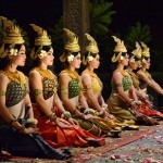 Glittering costumes of Apsara dancers