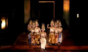 The graceful movements of the Apsara dancers