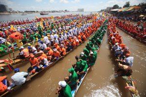 Bon Om Touk orThe Water Festival in Phnom Penh, Cambodia