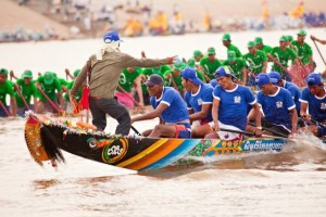 The traditional boat racing