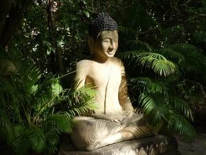 Buddha sculpture in the garden