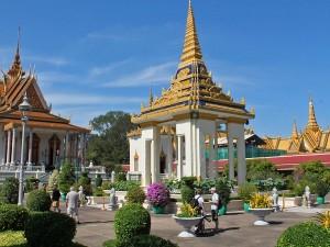 Tropical garden in the pagoda