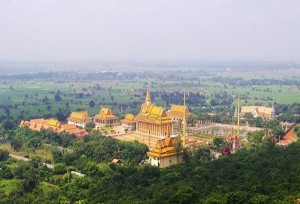 Pagoda complex on the hill behind