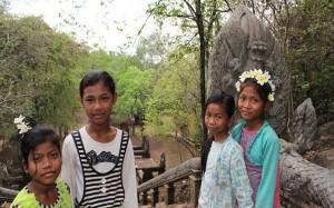 Little girls in Battambang, Cambodia