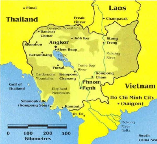A Cambodia map