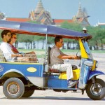 Tuk tuk is the most popular mean of transportation in Cambodia