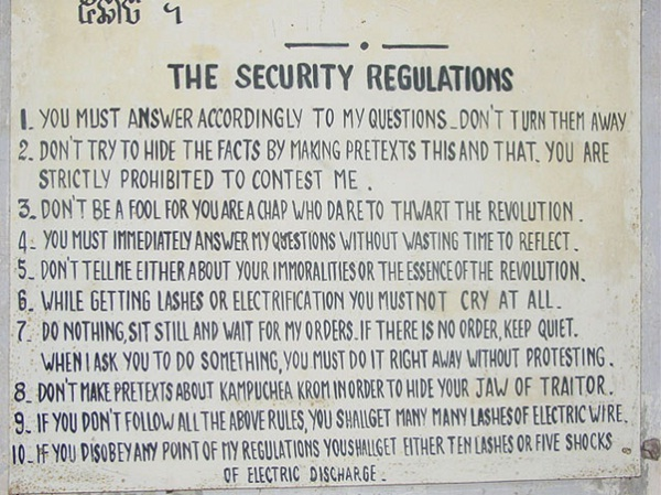 Tuol Sleng's rules
