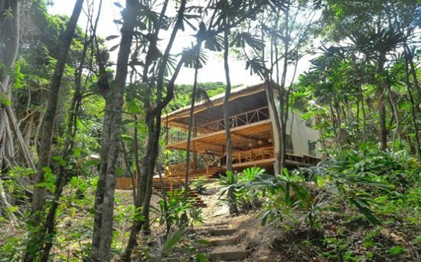 Small wooden house in the forest which people call Huba huba