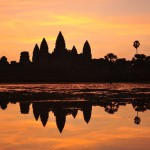 Watching the sunset in the Cambodian relic is a memorable experience for tourists