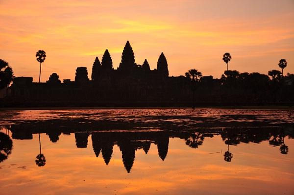 Sunset on once-deserted Angkor Wat