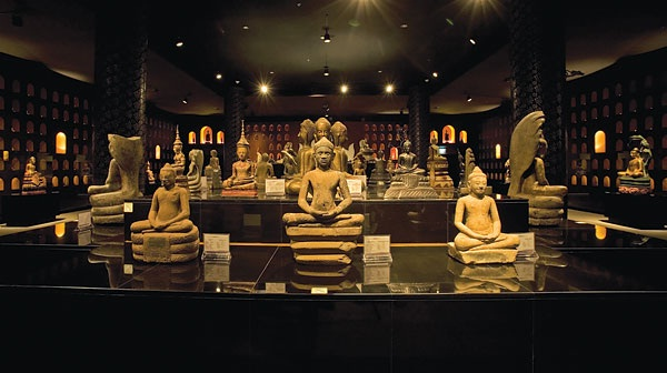 1000 Buddha statues are exhibited in the Gallery 1 of Angkor National Museum