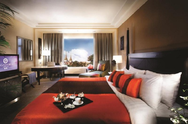Guest rooms are elegantly decorated in luxury model
