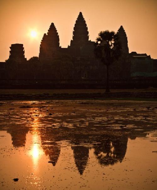 Sunset of Angkor Wat