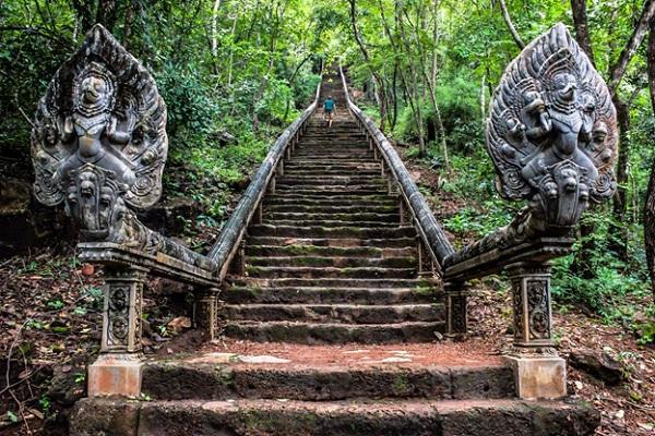 High stair of Wat Banan Temple