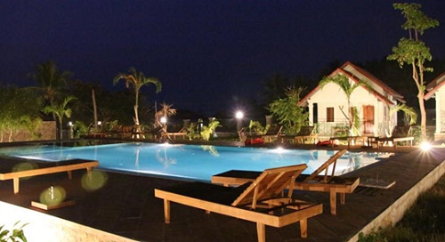 Wonderful pool in Le Kep bungalows
