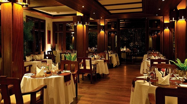 A corner of beautiful restaurant in Belmond La Résdience d'Angkor