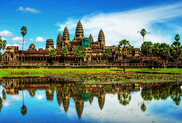 Between May and October is the best time to see full moats around the temples of Angkor, dramatic skies and verdant rice-paddies