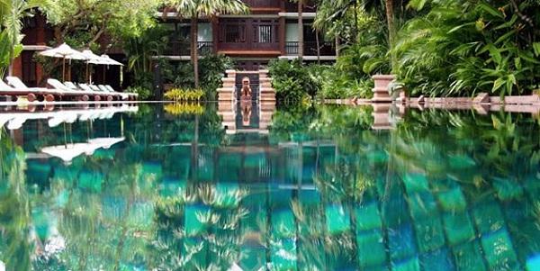 Pool in Belmond La Résidence d'Angkor