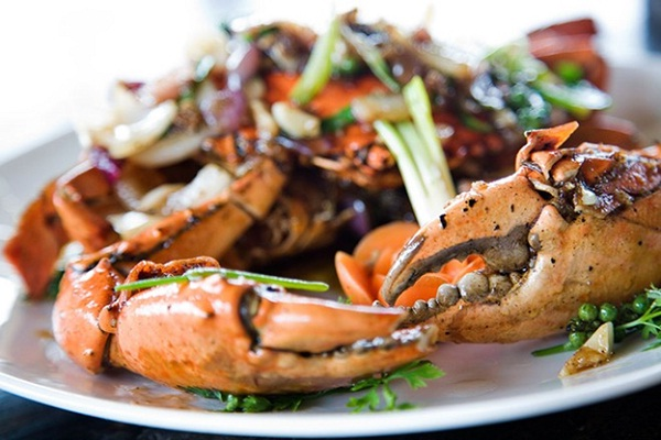 Fried crab with pepper