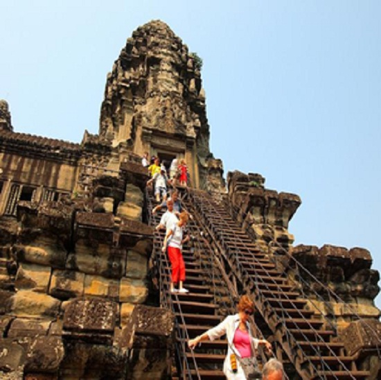 Top of Angkor wat