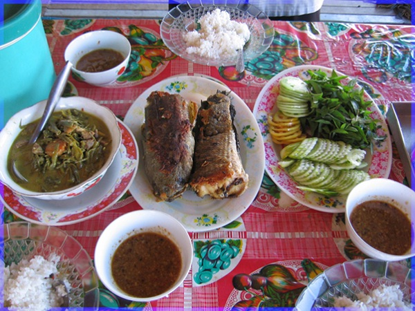 Simple Cambodian meal