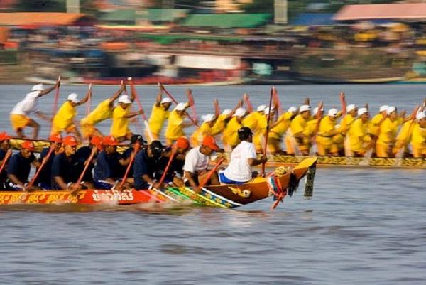 Bon Om Touk water festival in Cambodia