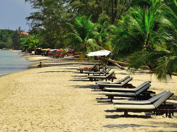The coastal resort of Sihanoukville