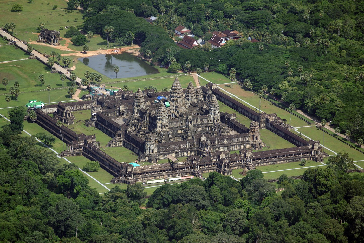 Bird's eye view of Angkor Wat