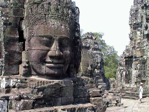 Angkor Thom impressed with four faces Buddha statue