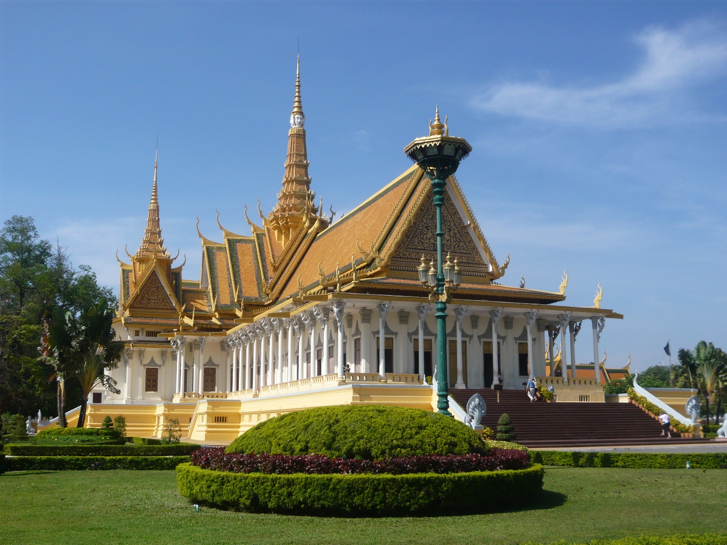 Cambodian Royal Palace seen from outside