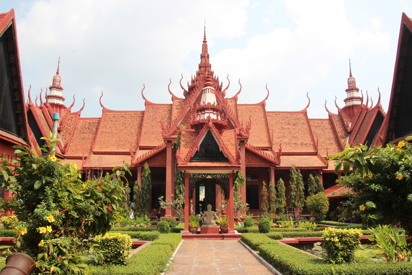 The front of National Museum of Cambodia