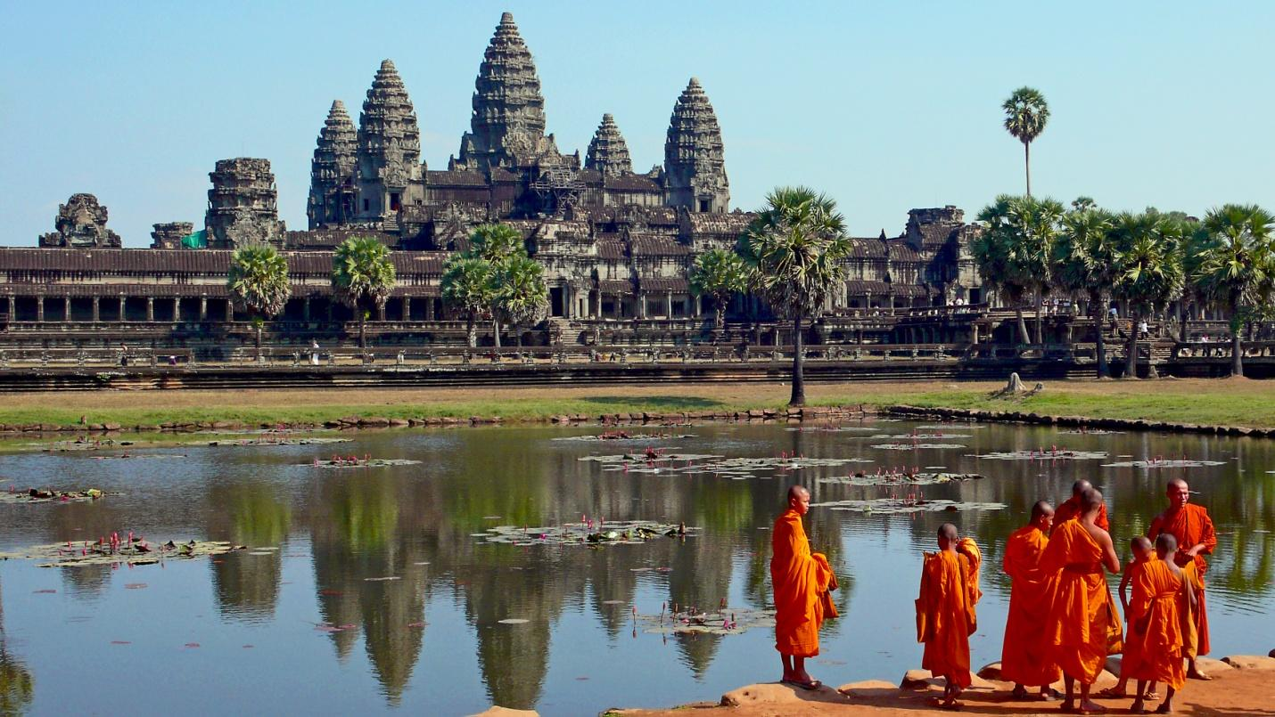 Angkor Wat looks so ancient and beautiful