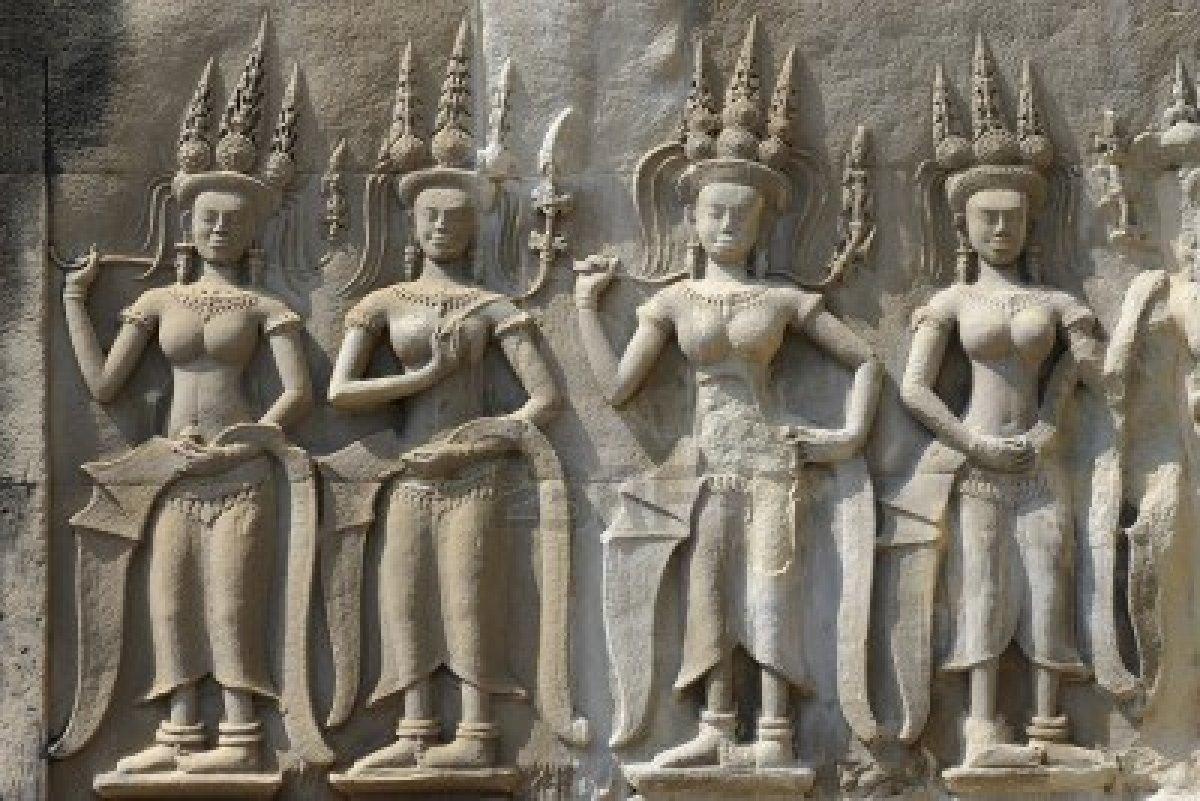 Apsaras carvings