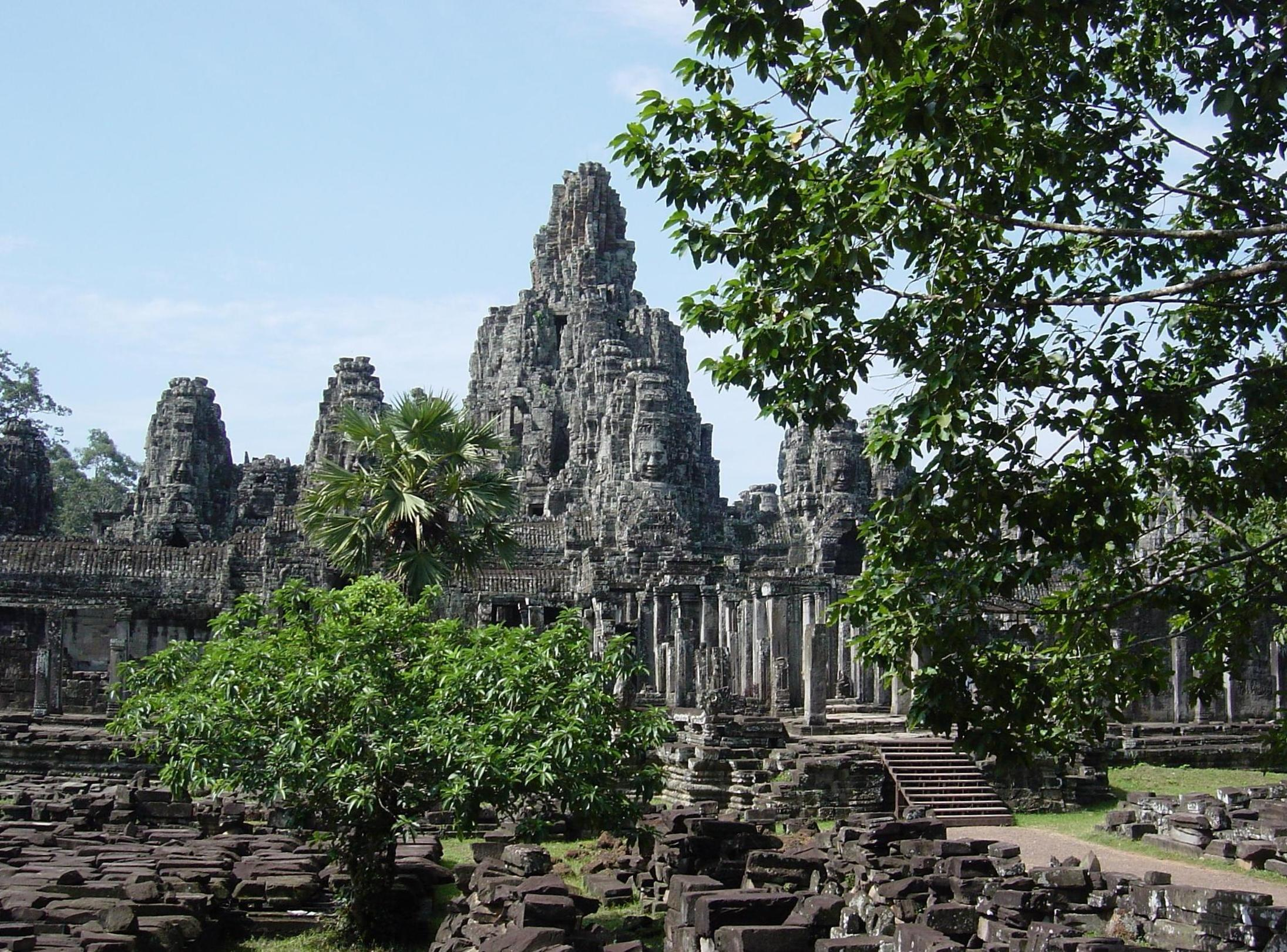Bayon temple seen from outside