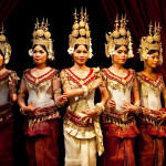 Cambodian women in their sampot