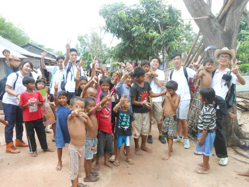 "Doing charity work in ""New Hope Cambodia"" in Mondul 3 village makes you happier"