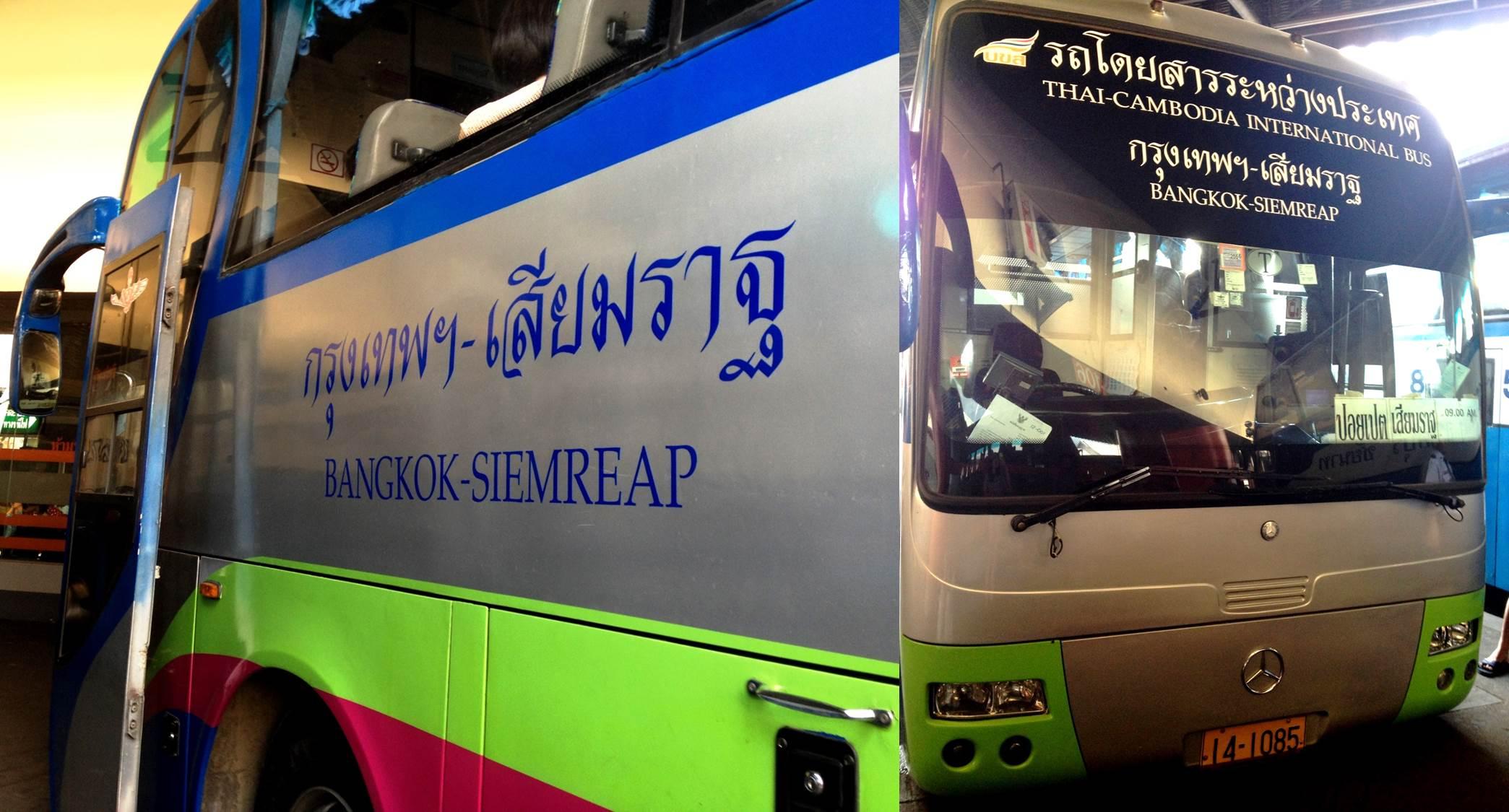 Take a bus from Bangkok to Siem Reap
