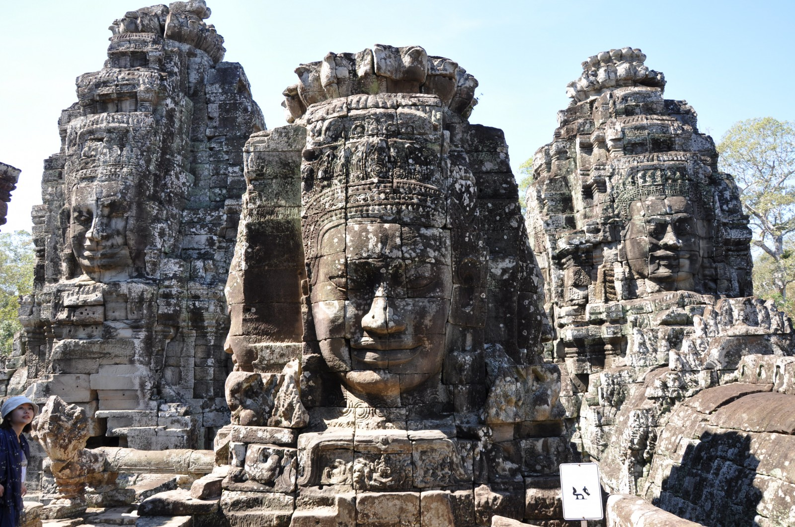 The faces which contain many suppositions in Bayon temple
