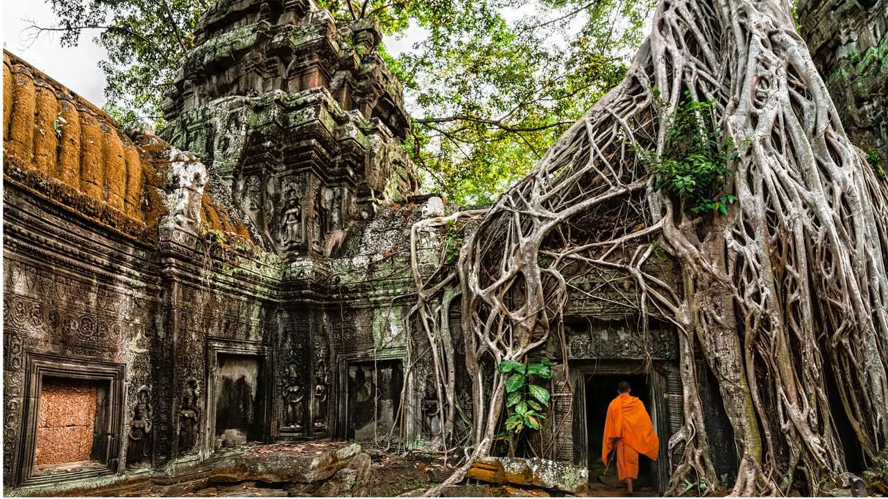 Ancient feature of Angkor temples