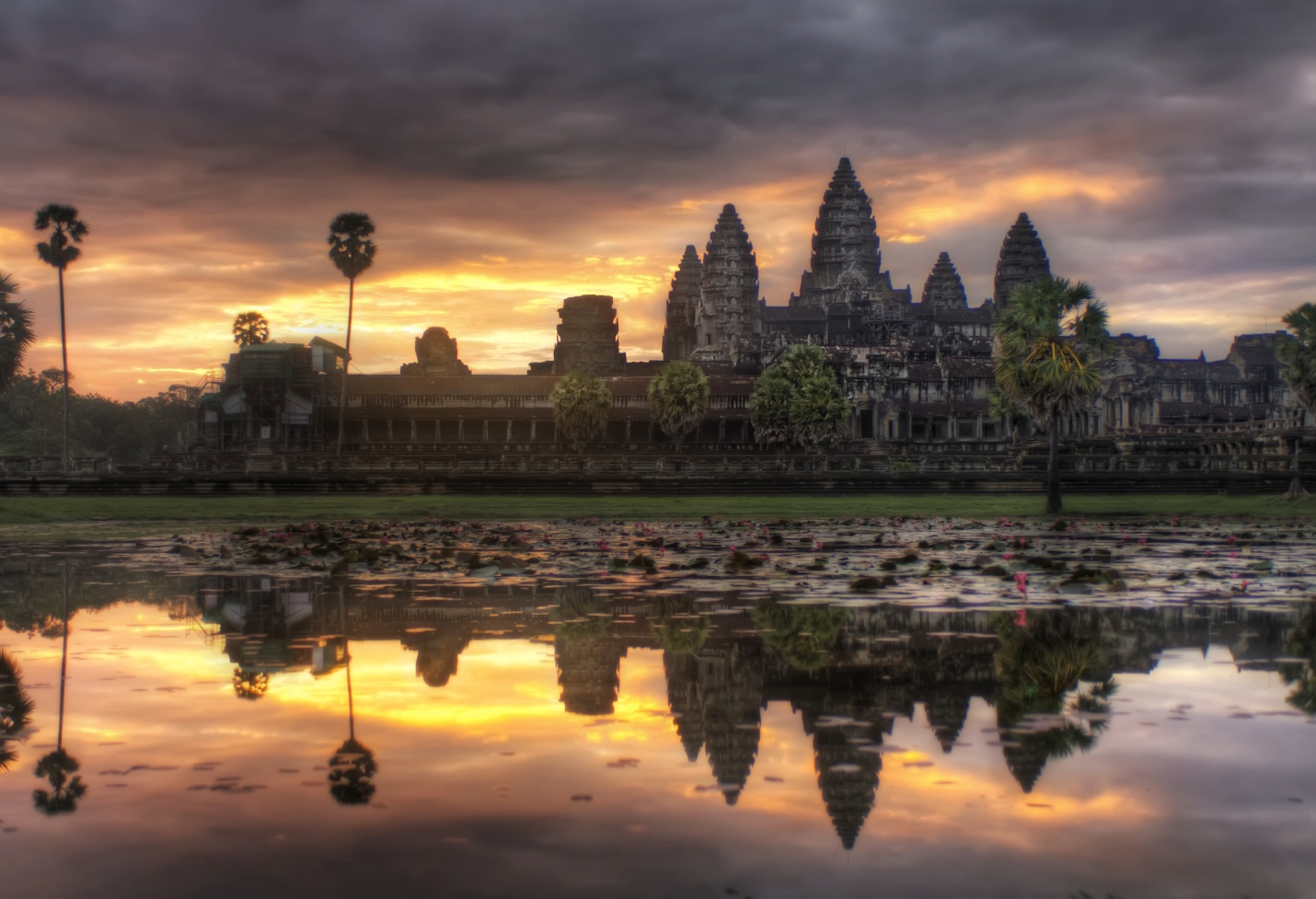 Angkor complex in sunset