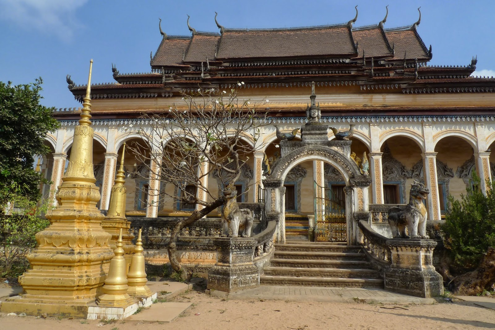 The peace of Wat Bo pagoda