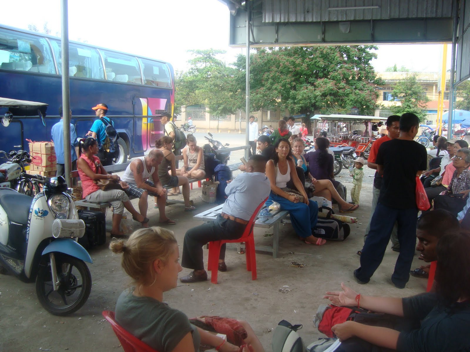 Bus station in CambodiaBus station in Cambodia