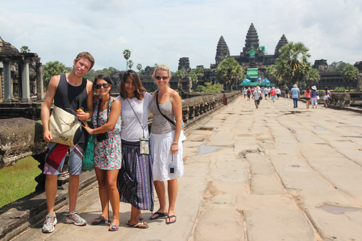 December and January are the best time to visit the Angkor