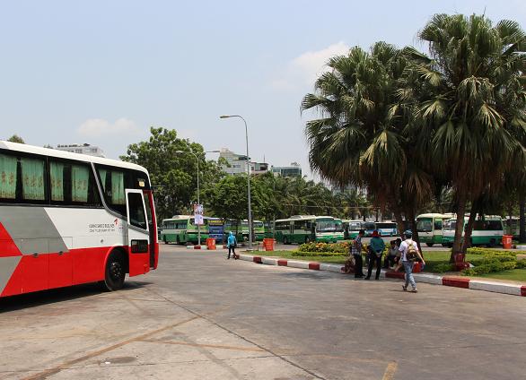 Ho Chi Minh (Sai Gon) Terminal Bus in Pham Ngu Lao St