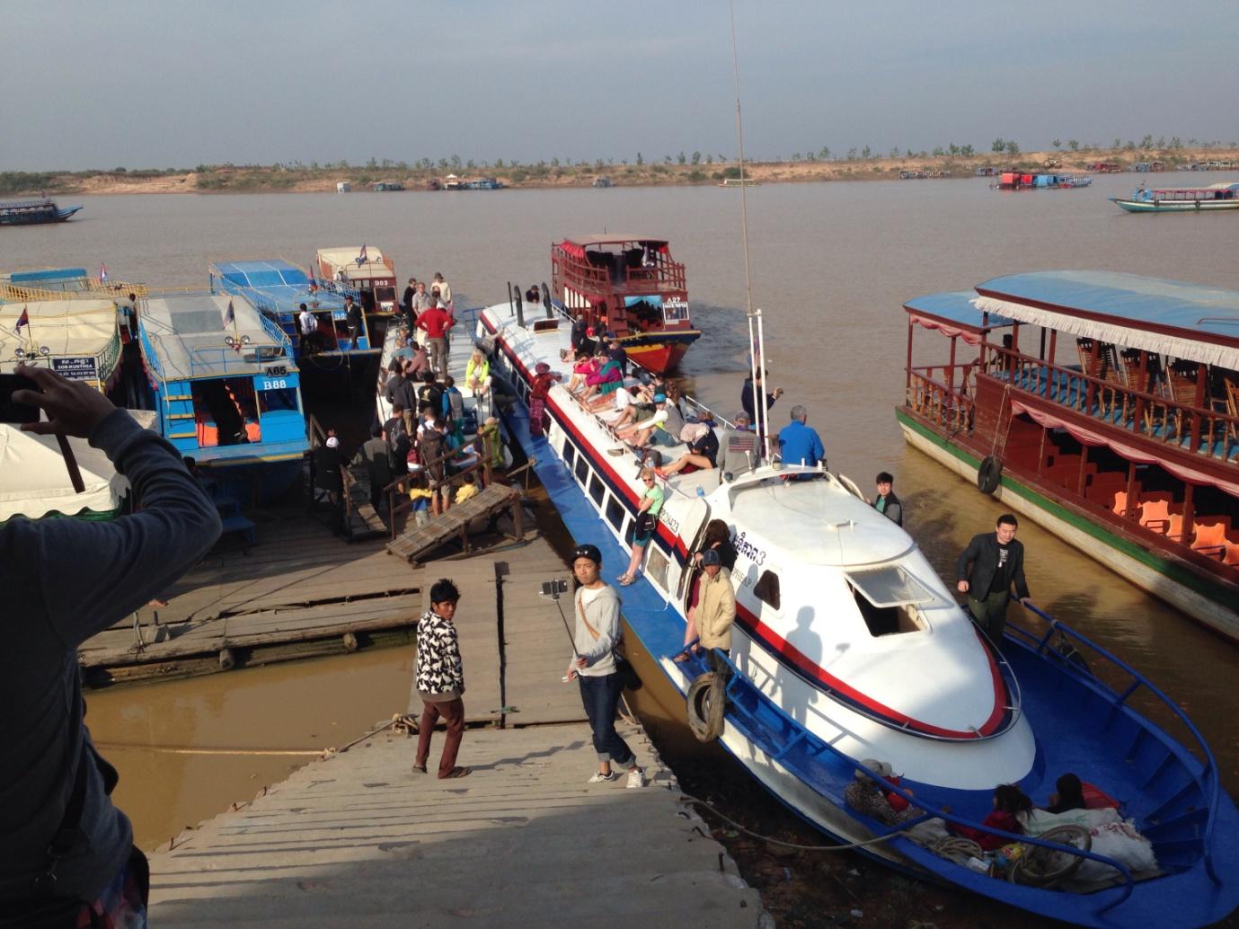 Siem Reap ferry dock