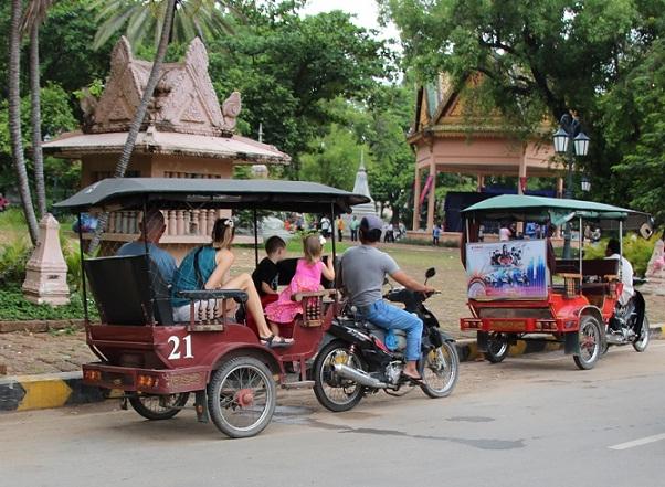 Tuktuk vehicle in Cambodia