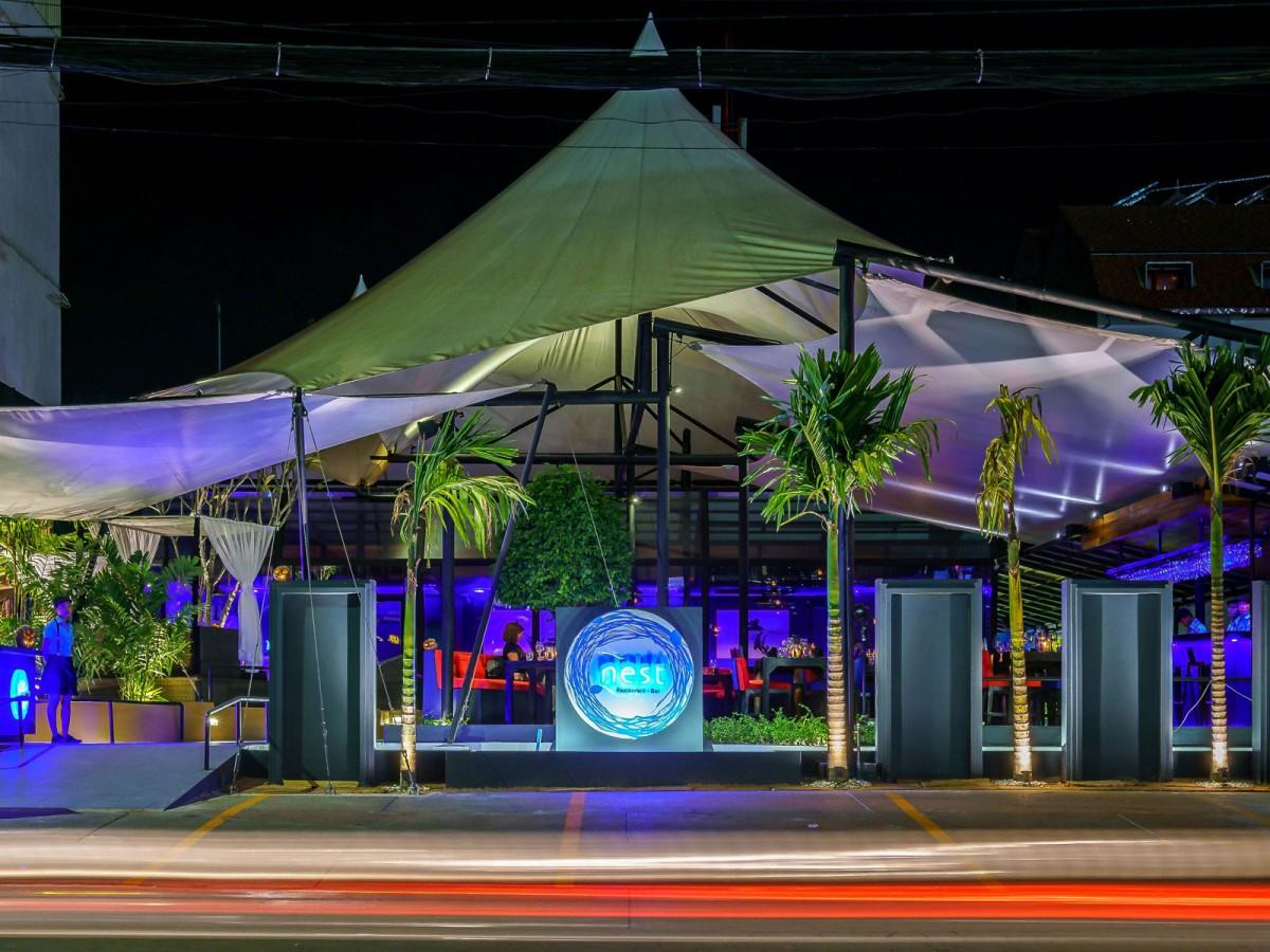 Nest Angkor Cafe and Bar at night