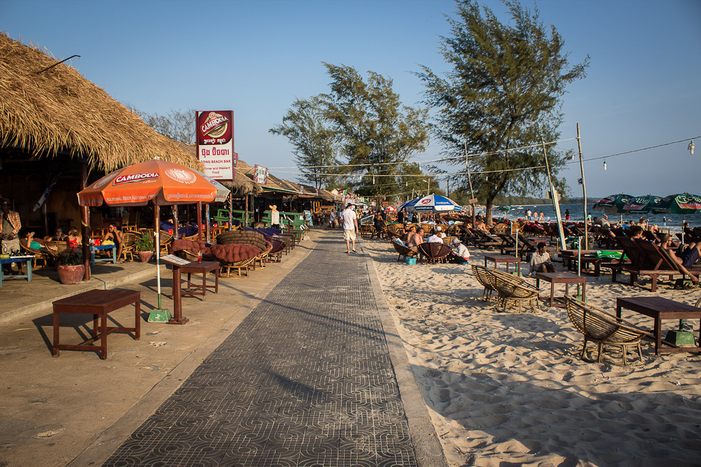 Backpack to beaches at Sihanoukville