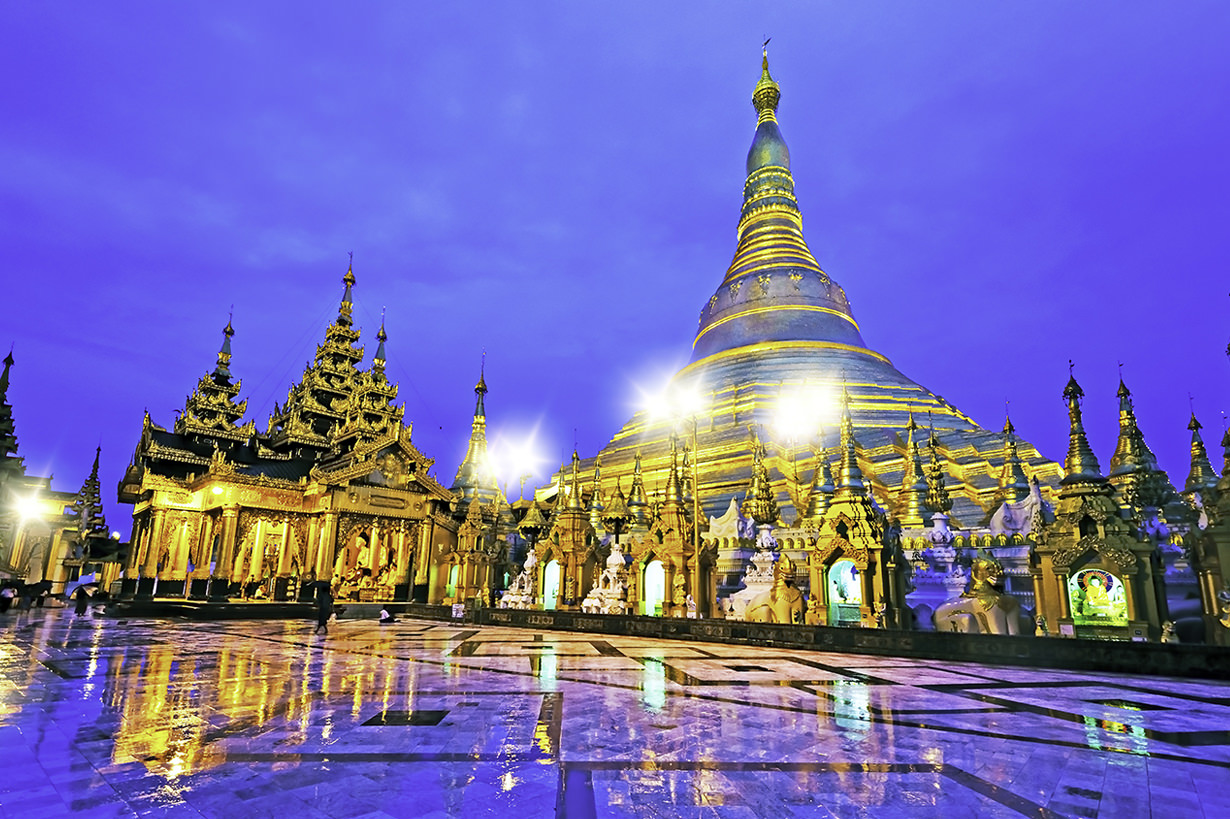 Shwedagon Pagoda, the most well-known pagoda in Yangon