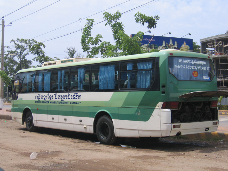 Bus between Battambang and Sihanoulville